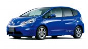 Honda Fit EV front three quarters studio image