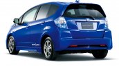 Honda Fit EV rear three quarters studio image