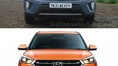 Hyundai Creta old vs new front