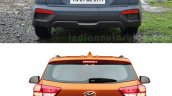 Hyundai Creta old vs new rear