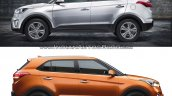 Hyundai Creta old vs new side