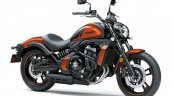 Kawasaki Vulcan S Pearl Lava Orange press front angle