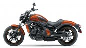 Kawasaki Vulcan S Pearl Lava Orange press left side