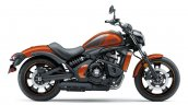 Kawasaki Vulcan S Pearl Lava Orange press right side