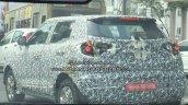 Mahindra S201 (SsangYong Tivoli based SUV) spy shot rear three quarters