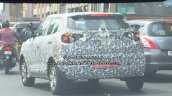 Mahindra S201 (SsangYong Tivoli based SUV) spy shot rear