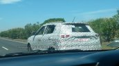 Mahindra S201 spy shot rear three quarters