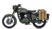 Royal Enfield Classic 500 Pegasus Limited Edition Olive Drab Green side view