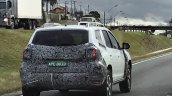 Second-gen Renault Duster rear three quarters spy shot Brazil