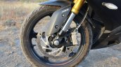 TVS Apache RR 310 Black detailed review front wheel