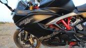 TVS Apache RR 310 Black detailed review left side fairing