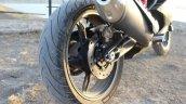 TVS Apache RR 310 Black detailed review rear wheel