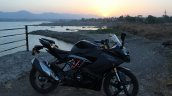 TVS Apache RR 310 Black detailed review right side sunset shot