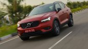 Volvo XC40 review front action shot tilt