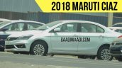 2018 Maruti Ciaz (facelift) exterior spy shot