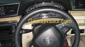 2018 Maruti Ciaz (facelift) steering wheel and instrument panel spy shot