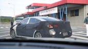 2019 Hyundai Elantra (2018 Hyundai Avante) rear three quarters left side spy shot