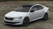 2020 Skoda Octavia front three quarters rendering