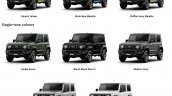 All-new 2019 Suzuki Jimny colours