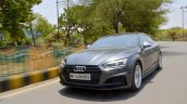 Audi S5 review front angle tracking shot