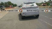 Production Mahindra S201 rear three quarters spy shot