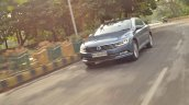 VW Passat review front action shot tilt