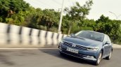 VW Passat review front angle action shot