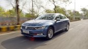VW Passat review front three quarters motion shot