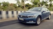 VW Passat review front three quarters motion