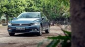 VW Passat review front three quarters view