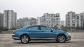 VW Passat review side