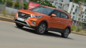 2018 Hyundai Creta facelift review front three quarters motion tilt