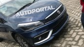 2018 Maruti Caiz (facelift) front fascia spy shot clear
