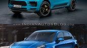 2019 Porsche Macan vs 2014 Porsche Macan front quarter Old vs New