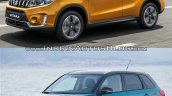 2019 Suzuki Vitara vs. 2015 Suzuki Vitara front three quarters