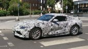 2019 Toyota Supra front three quarters spy shot