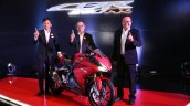 Honda CBR250RR 2018 Red Launched front quarter