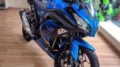 Kawasaki Ninja 300 2018 blue left quarter front right quarter