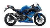 Kawasaki Ninja 300 2018 blue right side profile