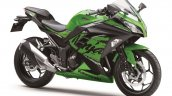 Kawasaki Ninja 300 2018 green front right quarter