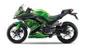 Kawasaki Ninja 300 2018 green left side profile