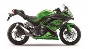 Kawasaki Ninja 300 2018 green side profile