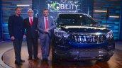 Mahindra Rexton front at Auto Expo 2018