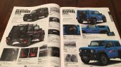 New Suzuki Jimny Sierra accessories brochure body kits