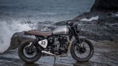 Royal Enfield Classic 500 modified scrambler 'Reckless' by Bulleteer Customs right side profile