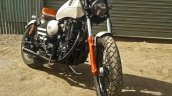 Royal Enfield Thunderbird bobber Nirankush by Dochaki Customs front right quarter