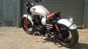Royal Enfield Thunderbird bobber Nirankush by Dochaki Customs rear left quarter
