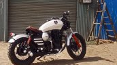 Royal Enfield Thunderbird bobber Nirankush by Dochaki Customs right rear quarter