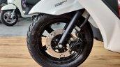Suzuki Burgman Street spied at showroom disc brake