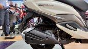 Suzuki Burgman Street spied at showroom exhaust